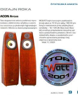Február 2002 – časopis WATT audio (SK)